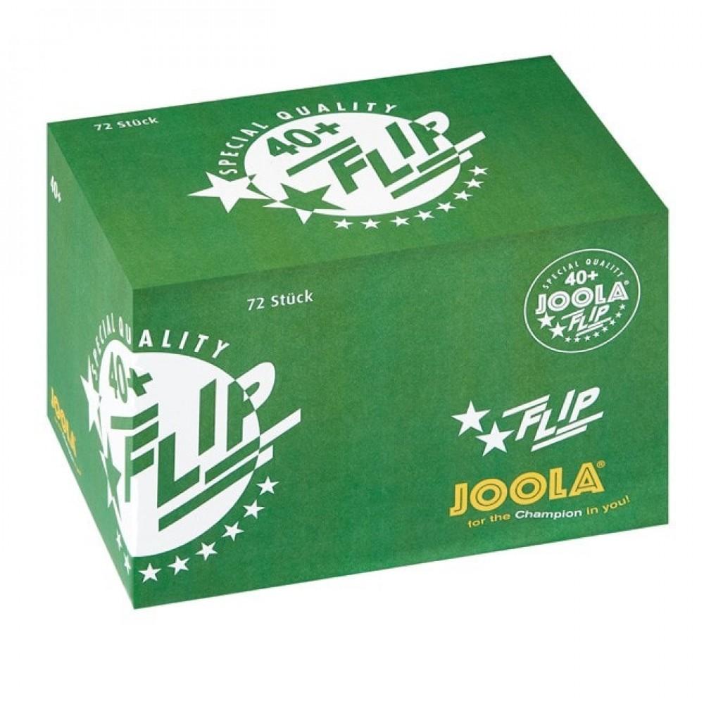 توپ جولا فلیپ دو ستاره پلاستیکی +40  - باکس 72 عددی